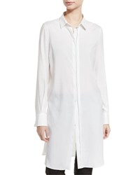 Brunello Cucinelli Monili Trim Side Slit Long Tunic White