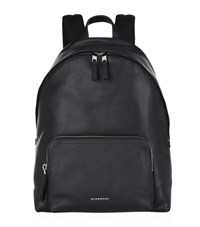 Burberry Shoes And Accessories Leather Trim Backpack Unisex Black
