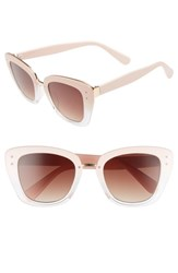 Bp. 51Mm Ombre Square Sunglasses Pink Clear Pink Clear
