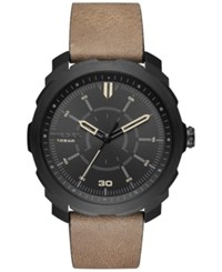 Diesel Men's Machinus Nsbb Light Brown Leather Strap Watch 46Mm Dz1788