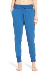 Free People Women's Skinny Sweat Jogger Pants Blue