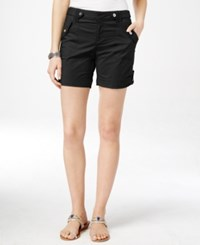 Inc International Concepts Roll Tab Shorts Only At Macy's Deep Black