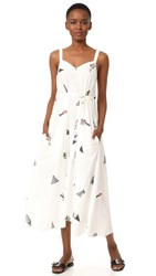 Veda Paradiso Dress Objects Print