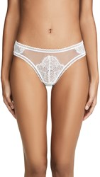 Thistle And Spire Eyelash Lace Mirage Thong Ivory
