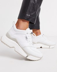 Karl Lagerfeld Chunky White Leather Trainers