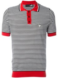 Love Moschino Striped Polo Shirt Black
