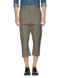Rick Owens Trousers 3 4 Length Trousers Grey