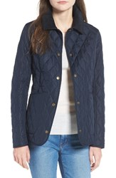 Barbour Women's Spring Annandale Quilted Jacket Navy Summer Tartan