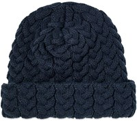 Blue Blue Japan Cable Knit Chunky Watch Cap Blue
