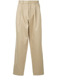 E. Tautz Loose Fit Trousers Neutrals
