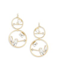 Rj Graziano Stone Accented Geometric Drop Earrings Gold