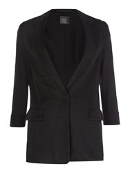 Replay Wool And Jersey Jacket Black