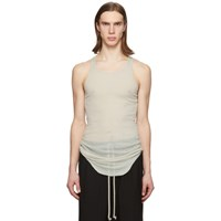 Rick Owens Off White Rib Tank Top