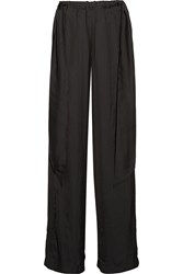 Cedric Charlier Washed Satin Wide Leg Pants