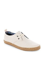 Ben Sherman Round Toe Lace Up Sneakers Off White