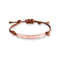 Ona Chan Corded Bracelet With Rose Quartz Pink Purple
