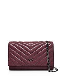 Botkier Soho Quilted Wallet On A Chain Crossbody Cabernet