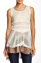 Ryu Lace Sleeveless Blouse Beige