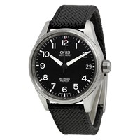 Oris 01 751 7697 4164 07 5 20 15F Men's Big Crown Propilot Date Fabric Strap Watch Black