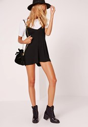 Missguided 2 In 1 Playsuit Black Black