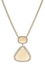Irene Neuwirth Women's Geometric Pendant Necklace Cream