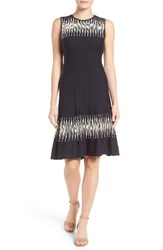 Nic Zoe Women's Breaking Waves Twirl Knit Dress