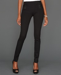 Inc International Concepts Pants Skinny Ponte Knit Faux Leather