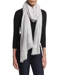 Long Floral Cashmere Blend Scarf Chalk Women's Donna Karan