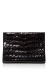 Nancy Gonzalez Crocodile Clutch Black