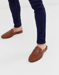 New Look Backless Loafers In Tan