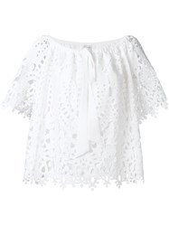 Temperley London Berry Lace Top White