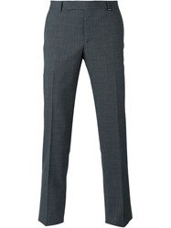 Z Zegna Fine Checked Trousers Grey