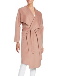 Badgley Mischka Lex Wool Blend Wrap Coat Blush