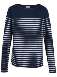 Fat Face Issey Stripe Top Navy