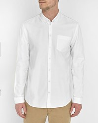 Minimum White Jay Oxford Cotton Shirt
