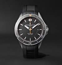 Baume And Mercier Clifton Club Automatic 42Mm Stainless Steel Vulcanised Rubber Watch Black