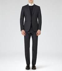 Reiss Galaxy Fine Check Suit In Navy