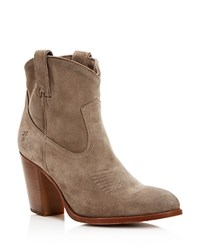 Frye Ilana High Heel Booties Grey