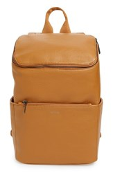 Matt And Nat 'Brave' Faux Leather Backpack Orange Curry