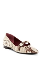 Marc By Marc Jacobs Bianca Pointed Toe Flat Beige