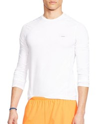 Polo Ralph Lauren Mesh Panel Compression Shirt White