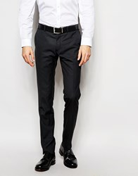 Ben Sherman Check Suit Trousers Black
