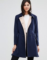 Yumi Ponti Trench Coat Navy