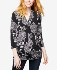 A Pea In The Pod Maternity Printed Blouse Bw Floral Print