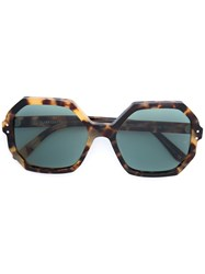 Oliver Goldsmith Yaton Jaguar Sunglasses Brown