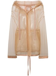 N 21 No21 Mesh Parka Jacket Nude And Neutrals