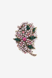 Night At The Plaza Rhinestone Brooch Multi
