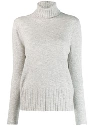 Allude Roll Neck Jumper Neutrals