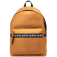 A.P.C. Savile Taped Logo Backpack Brown