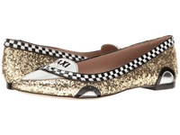 Kate Spade Go Gold Glitter Black White Patent